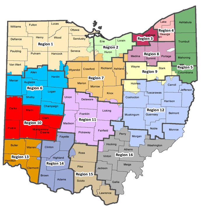 Ohio ESC Association Ohios ESCs - Map ohio
